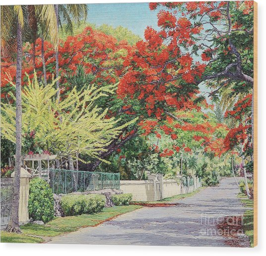 Windsor Avenue Wood Print