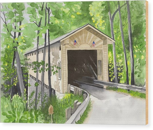 Windsor Mills Bridge Wood Print