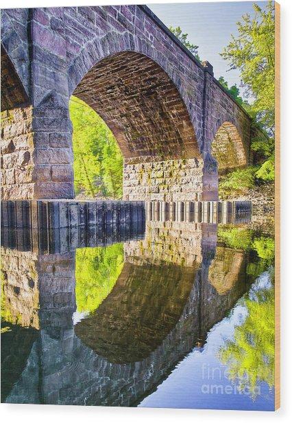Windsor Rail Bridge Wood Print