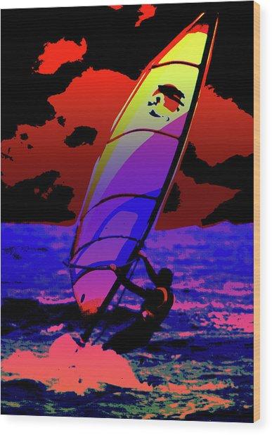 Windsurfer Wood Print