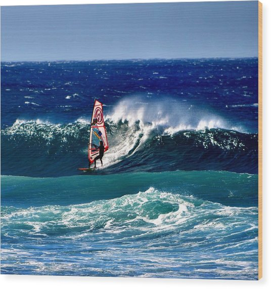 Windsurfer Wood Print