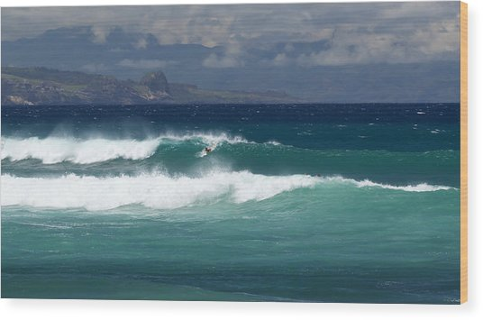 Windswept Ho'okipa Wood Print