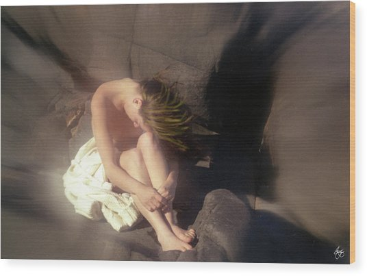 Windswept Nude Wood Print