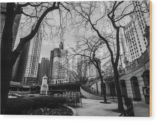 Windy Mornings In The Chi  Wood Print