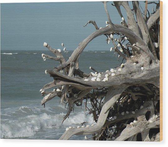Windy Sea Wood Print by Rosalie Scanlon