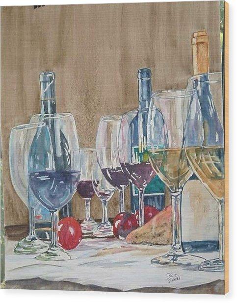 Wine 2 Wood Print