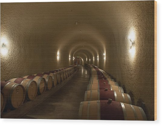Wine Cave-3 Wood Print