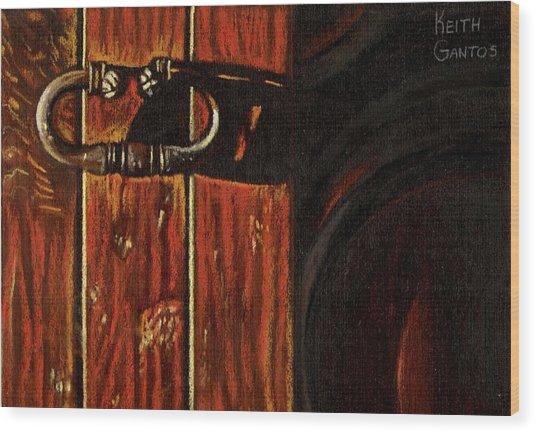 Wine Cellar Door Wood Print