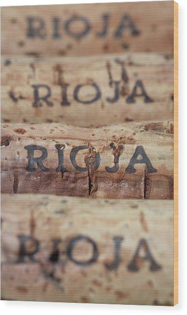 Wine Corks From Rioja Wood Print by Frank Tschakert