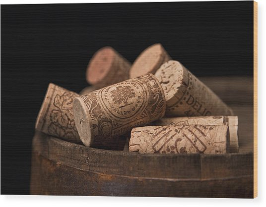Wine Corks Wood Print