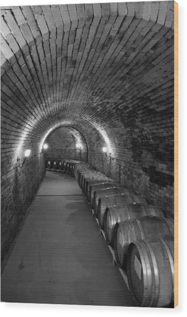 Wine In Waiting Wood Print