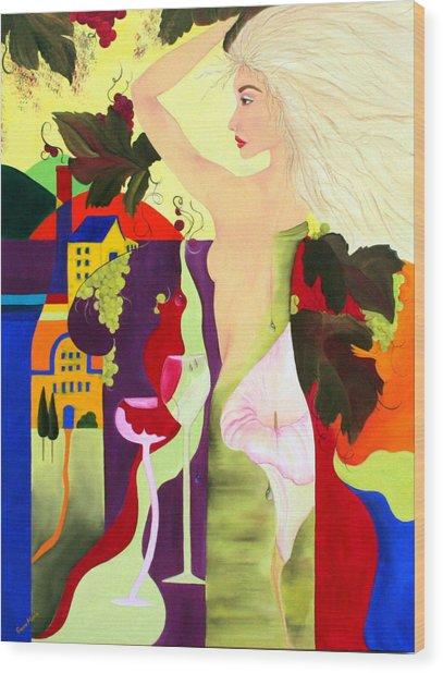 Wine Spirit Wood Print by Gwen Rose