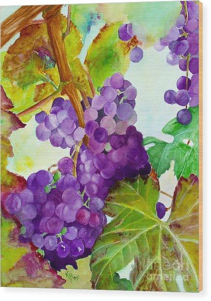 Wine Vine Wood Print