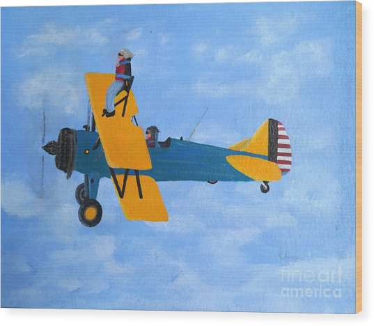 Wing Walker Wood Print