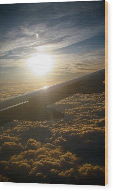 Winged Sun Wood Print by Larry Underwood
