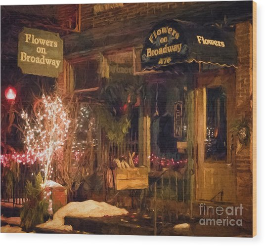 Wood Print featuring the photograph Winona Mn Storefront Historic Flower Shop by Kari Yearous