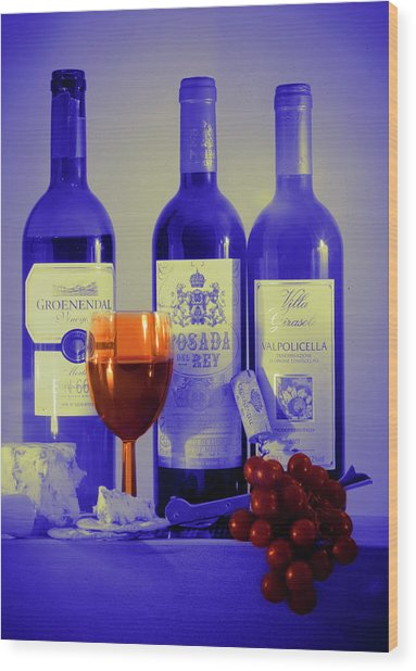 Winsome Wine Wood Print by Donald Davis