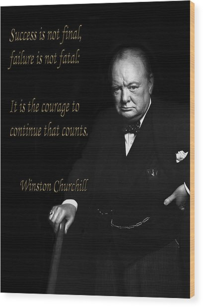 Winston Churchill 1 Wood Print