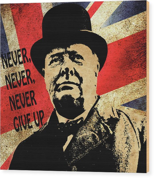 Winston Churchill 2 Wood Print