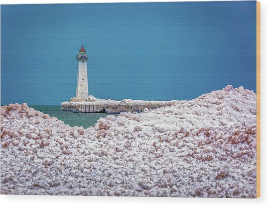 Winter At Sodus Point  Wood Print