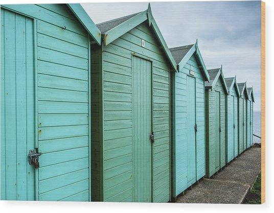 Winter Beach Huts IIi Wood Print