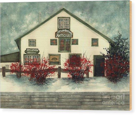 Winter Berries - Old Lumberyard Antiques Wood Print