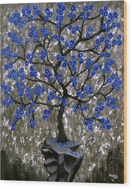 Winter Blues Wood Print