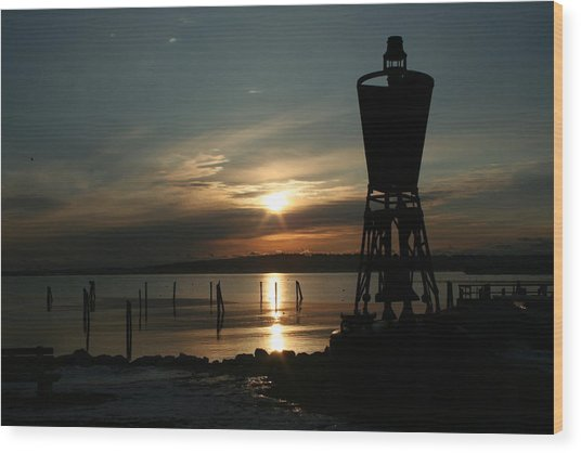 Winter Dawn Wood Print