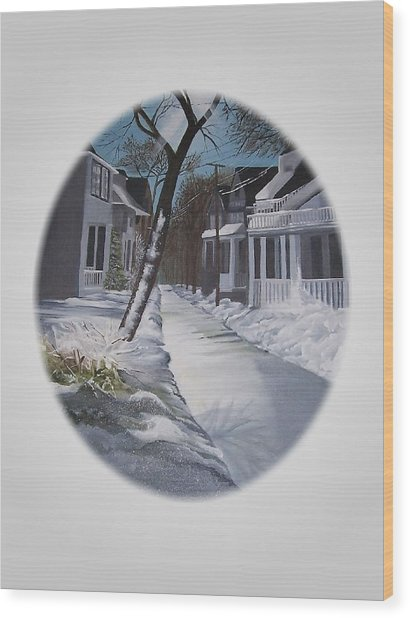 Winter Day Wood Print by Kathleen Romana
