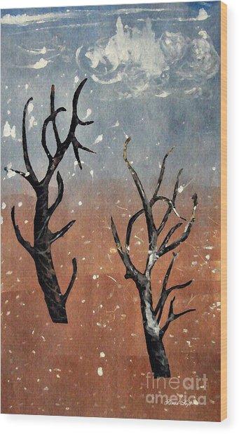 Winter Day Wood Print
