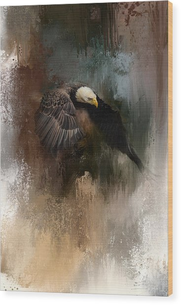 Winter Eagle 2 Wood Print
