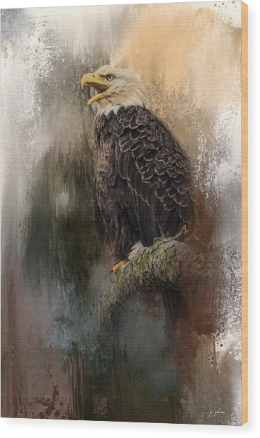 Winter Eagle 3 Wood Print