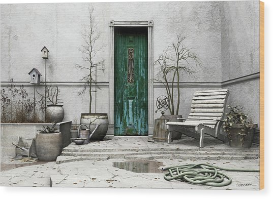 Winter Garden Wood Print