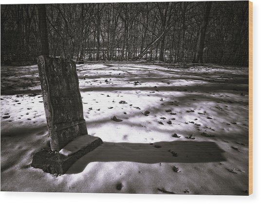 Winter Grave Wood Print by George Christian