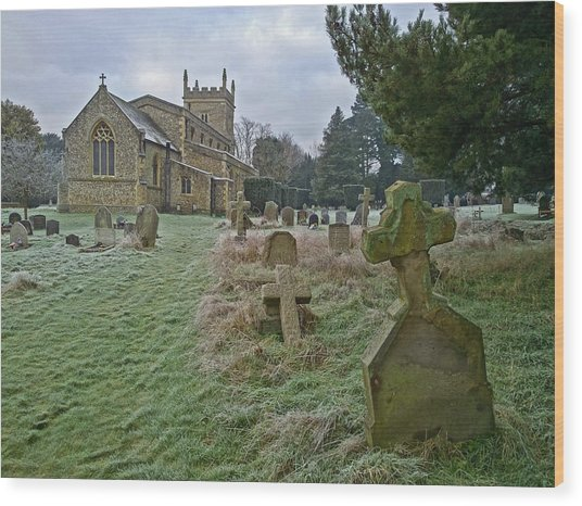 Winter Graveyard Wood Print