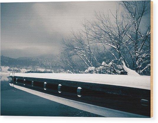 Winter Idyl Wood Print by Luka Matijevec