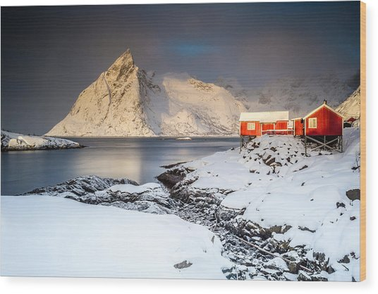 Winter In Lofoten Wood Print