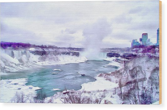 Winter In Niagara 1 Wood Print