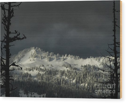Winter In North Cascades Wood Print