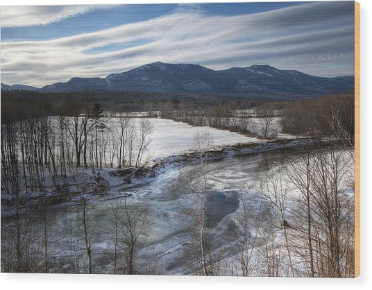 Winter In North Conway Wood Print