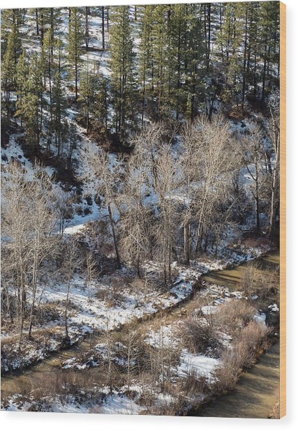 Winter In The Susan River Canyon Wood Print by The Couso Collection