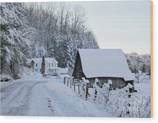 Winter In Virginia Wood Print