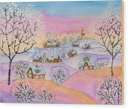 Winter Landscape, Painting Wood Print