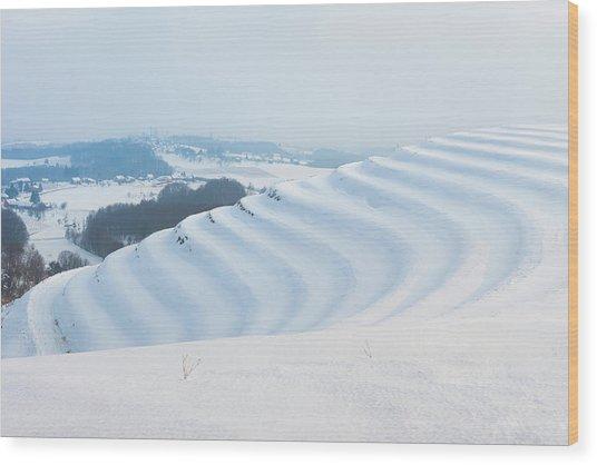 Winter Lines Wood Print
