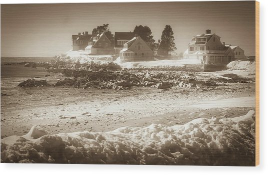 Winter - Lord's Point - Kennebunk Wood Print