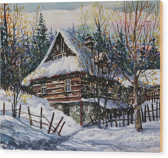 Winter Magic II  Wood Print