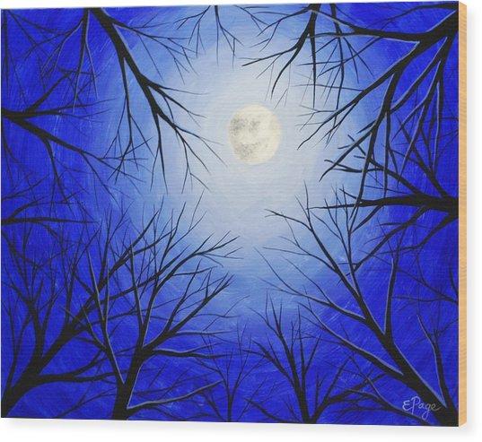 Winter Moon Wood Print