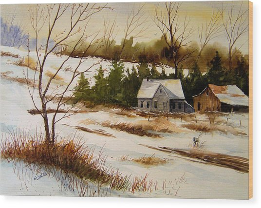 Winter Morning Wood Print by Brooke Lyman
