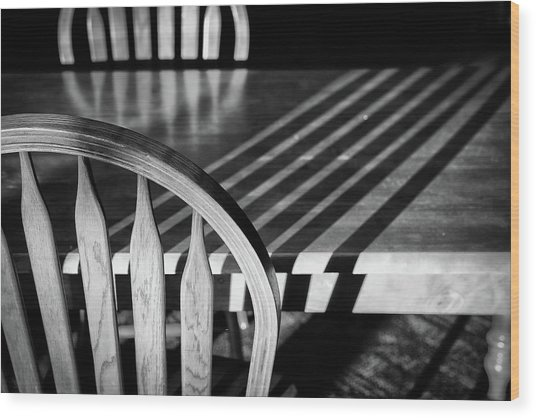 Winter Morning Shadows Wood Print