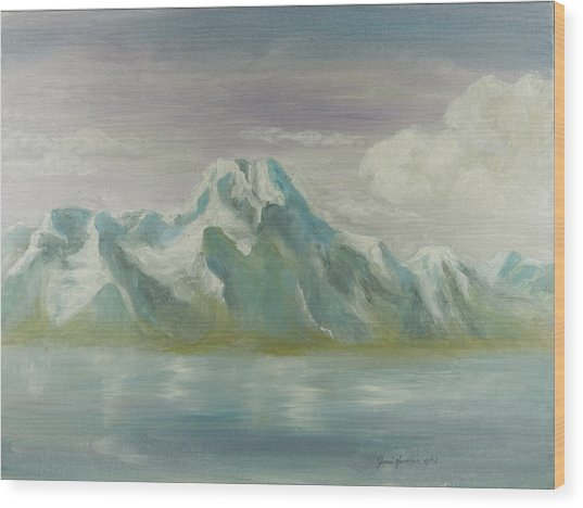 Winter Mountains Wood Print by Joni Herman